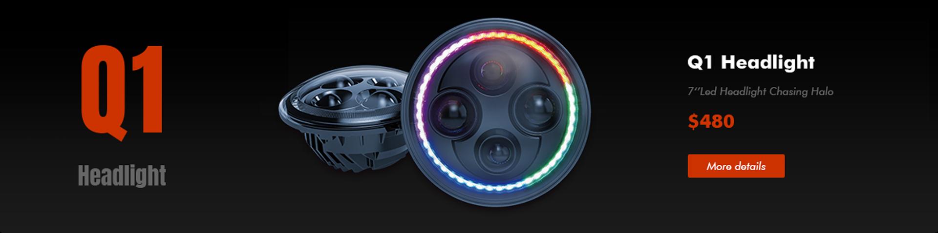 RGB halo headlights